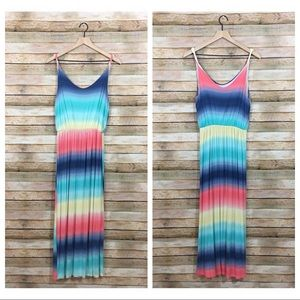 Gilli Rainbow Twist Strap Maxi Dress - Large